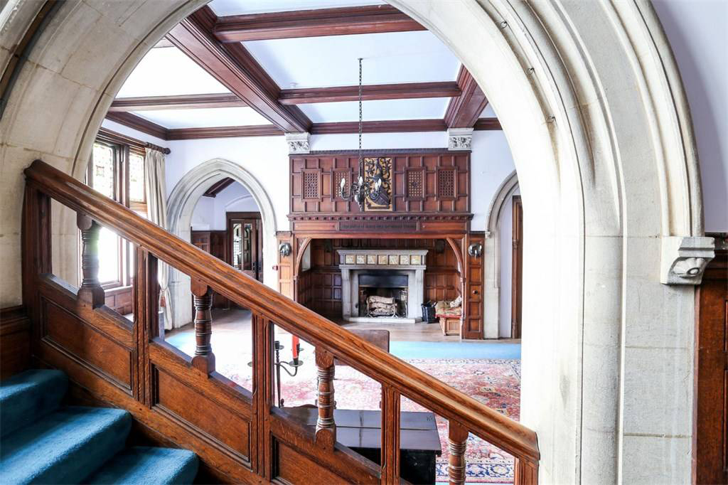 Gothic houses on the market right now: country home by Alfred Waterhouse