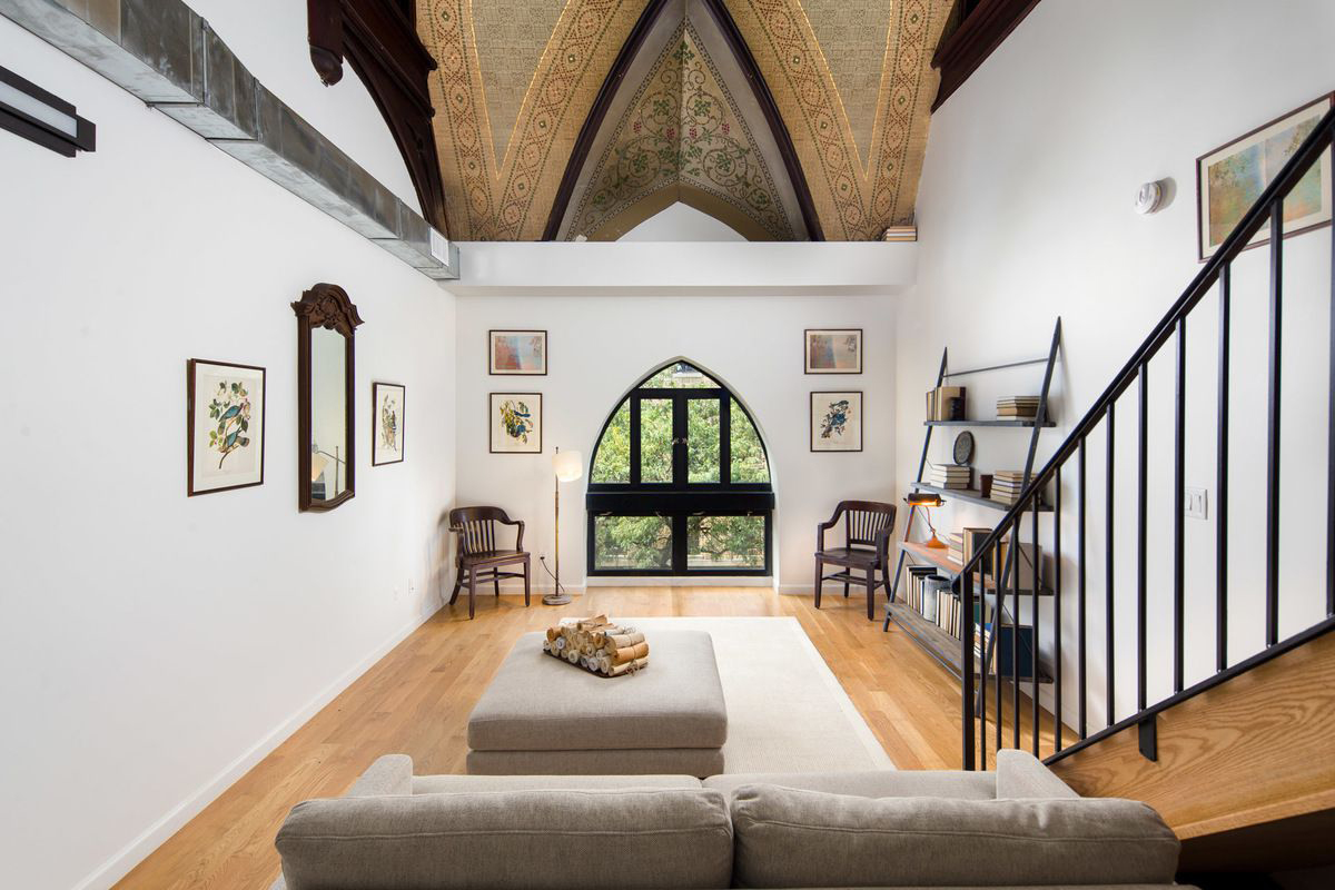 Converted church apartment for rent in Bushwick