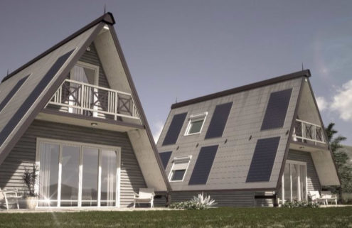 Folding pre-fab house can be built anywhere in 6 hours