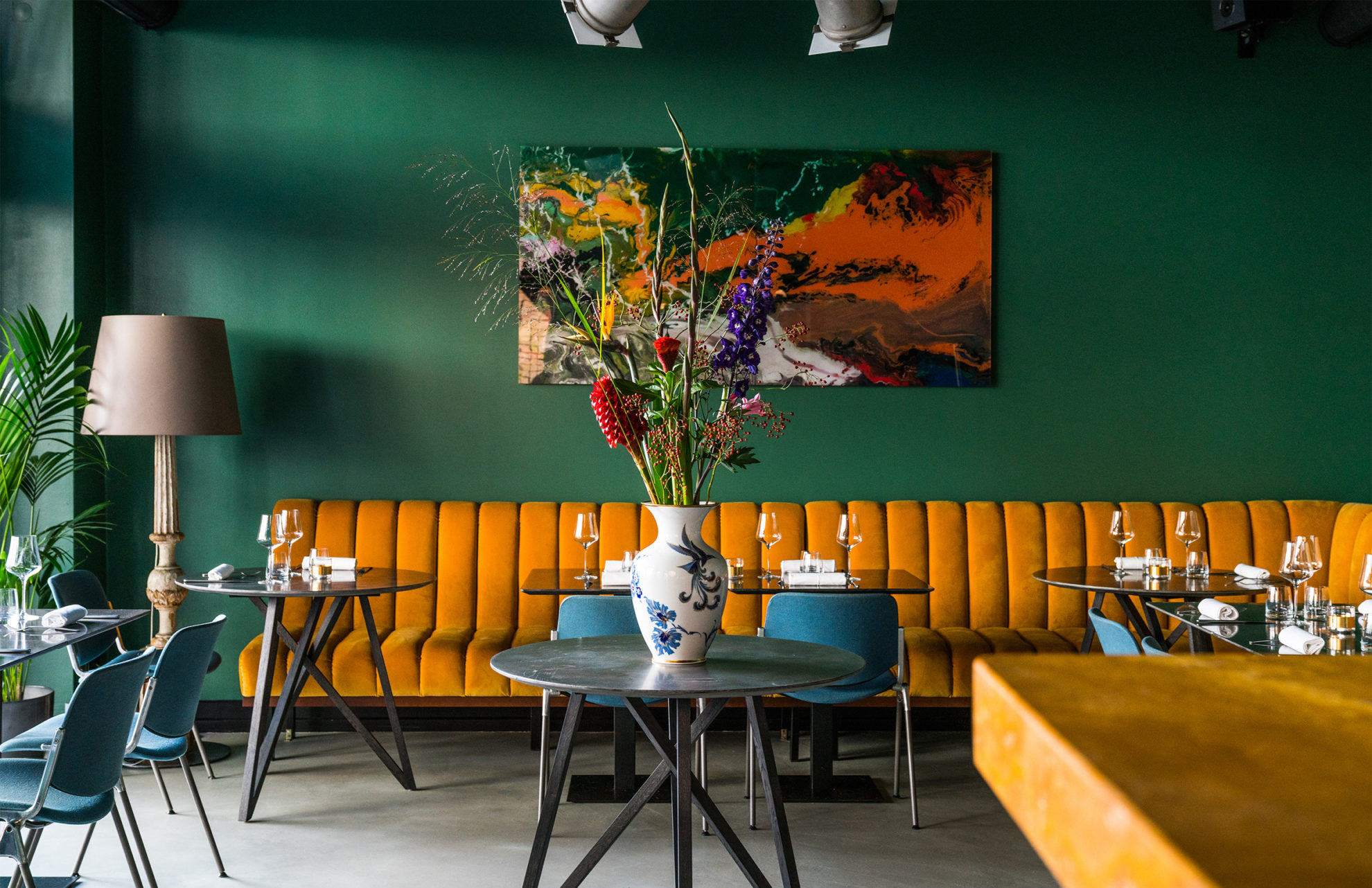 To The Bone restaurant in Berlin is awash with colour