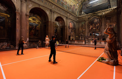 Play a game of tennis inside this 16th-century Milan church