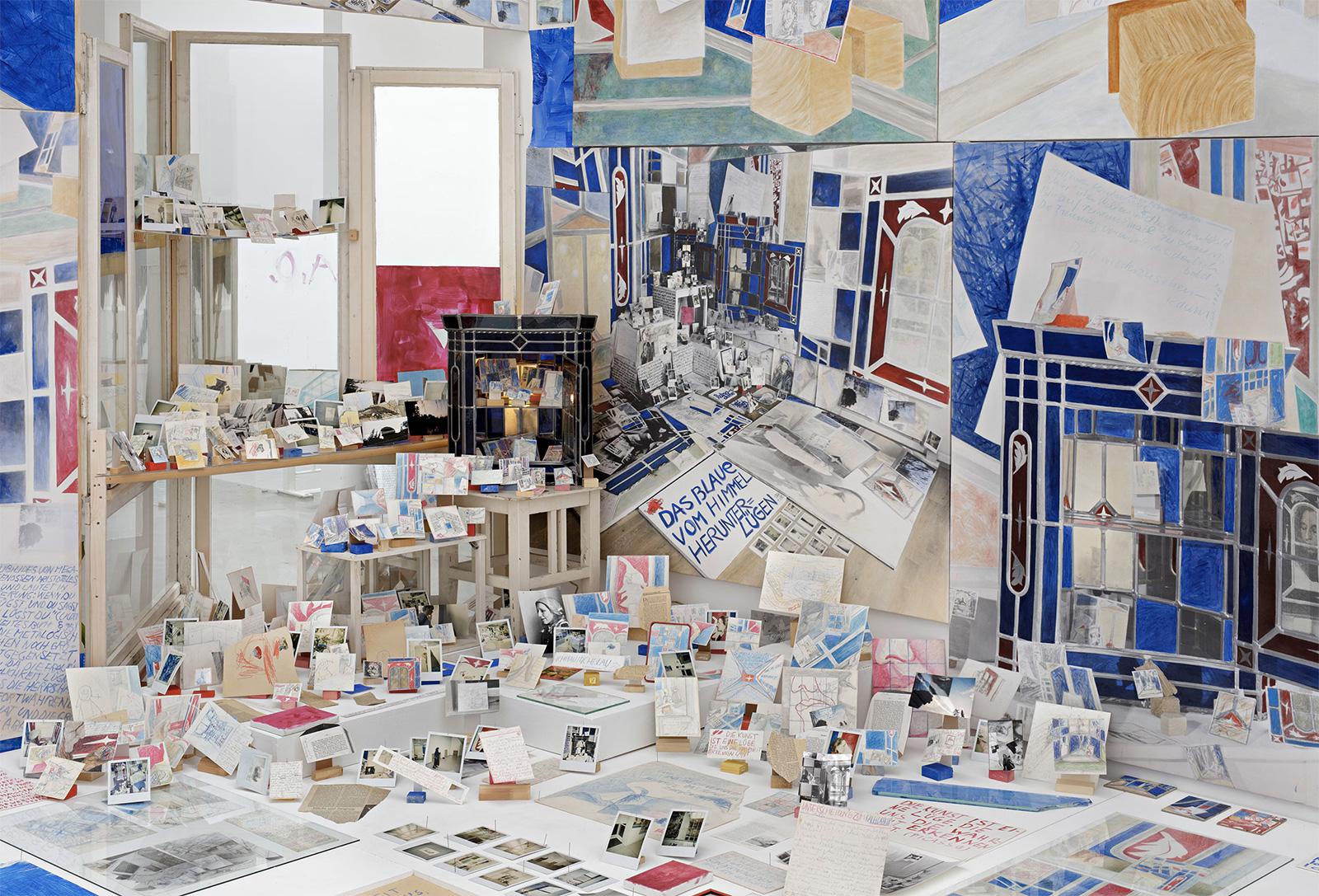 Installation view, Anna Oppermann, 'Paradoxe Intentionen, 1988/92. Galerie Barbara Thumm, Berlin, 2016. Courtesy the Estate Anna Oppermann and Galerie Barbara Thumm, Berlin. Photography: Jens Ziehe