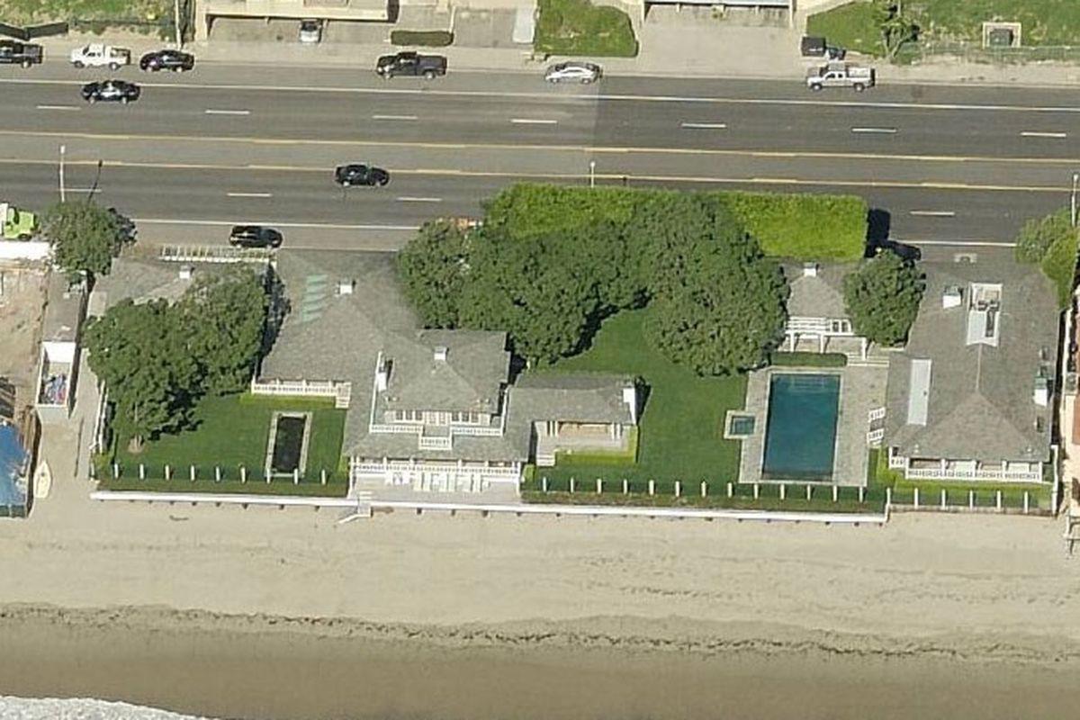 David Geffen's Carbon Beach house