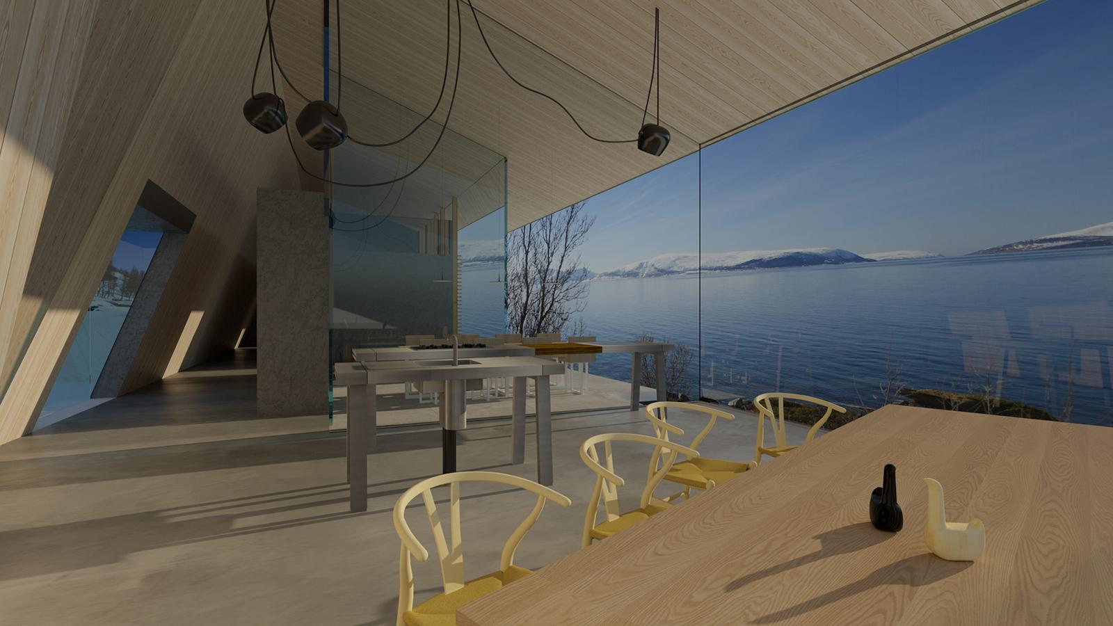 Lyngen cabin by Snorre Stinessen