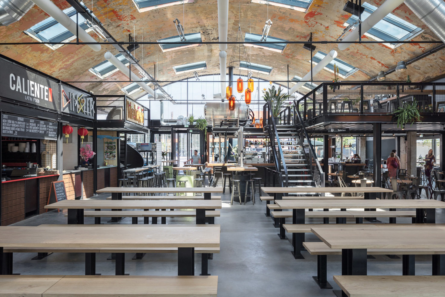 Adaptive reuse project, Mout Foodhall in The Netherlands