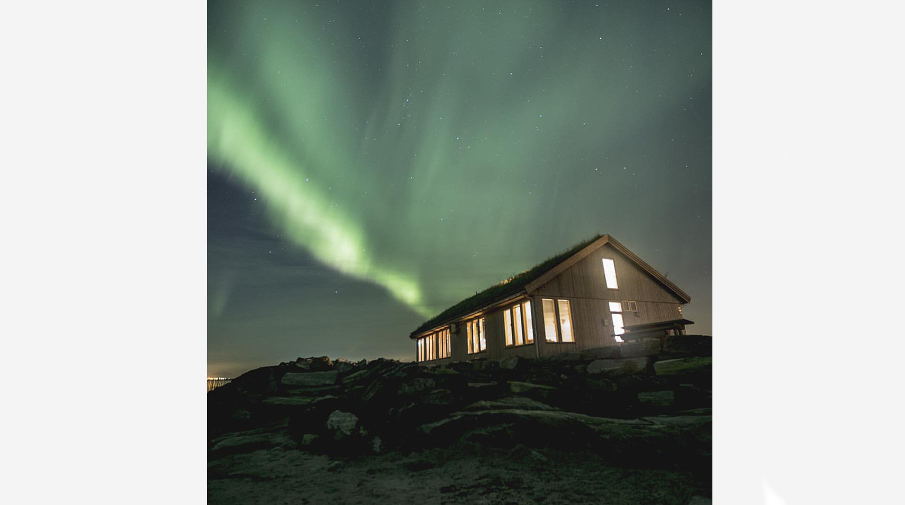 Ocean Sound Recording Studio in Giske, which has views of the Northern lights for added inspiration