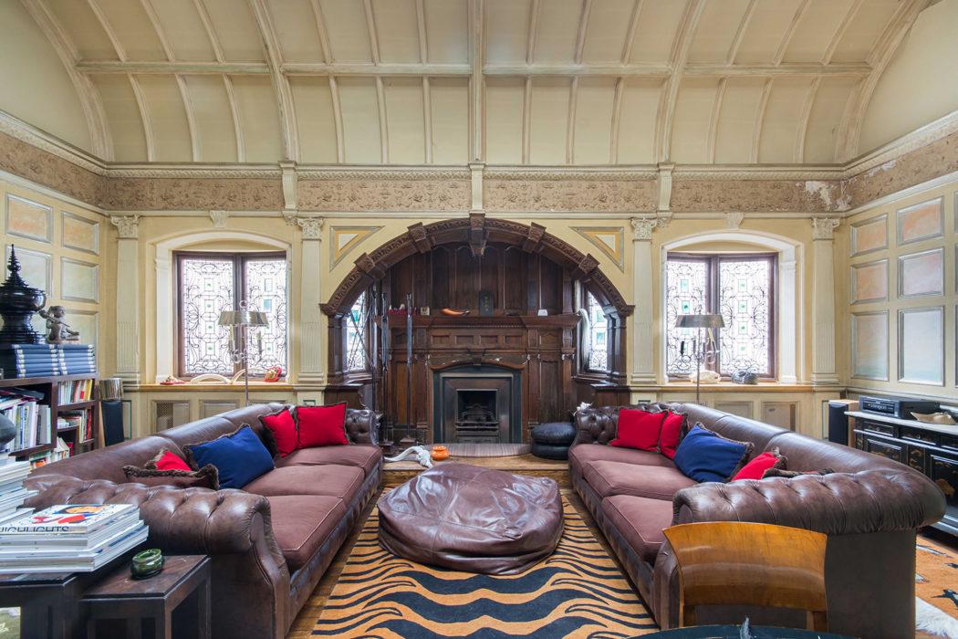 Queens Gate London property for sale via Domus Nova has a huge living room for entertaining