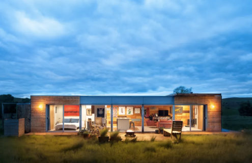 Shipping container house in Montana lists for $125k
