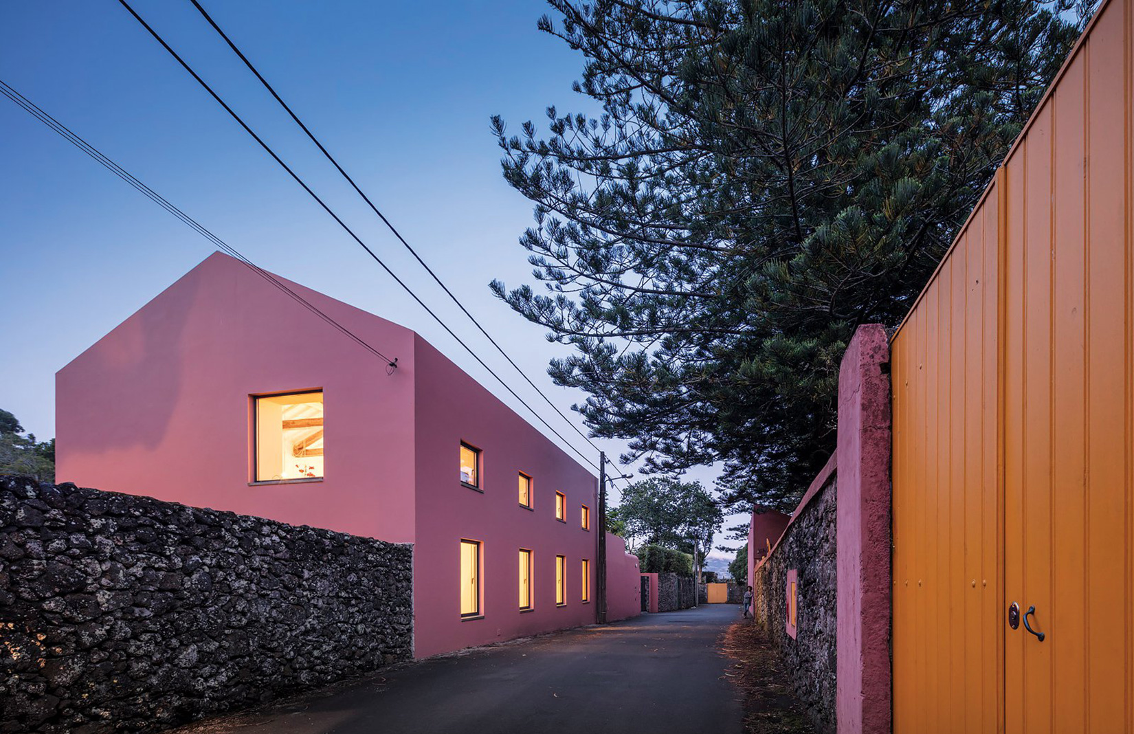 Pink House in the Azores by Mezzo Atelier
