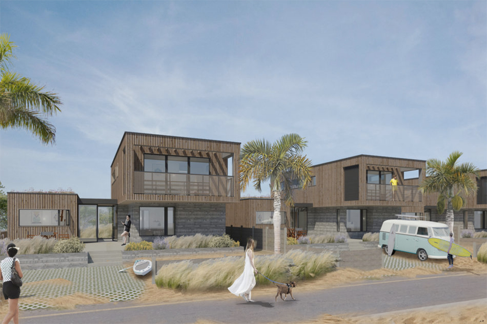 Camber beach house plot via The Modern House