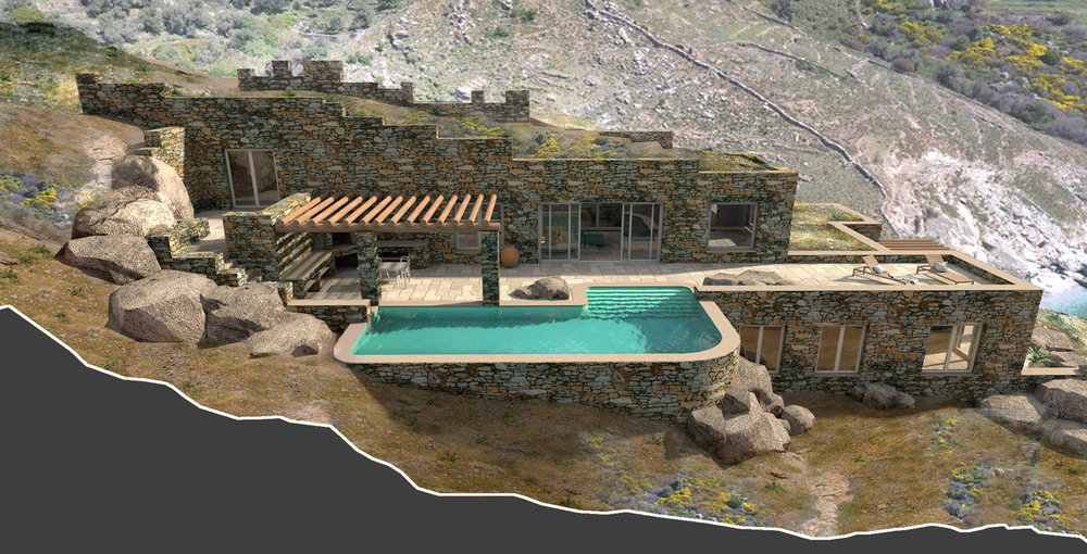 Greek villa waiting to be built by The Andros Architects