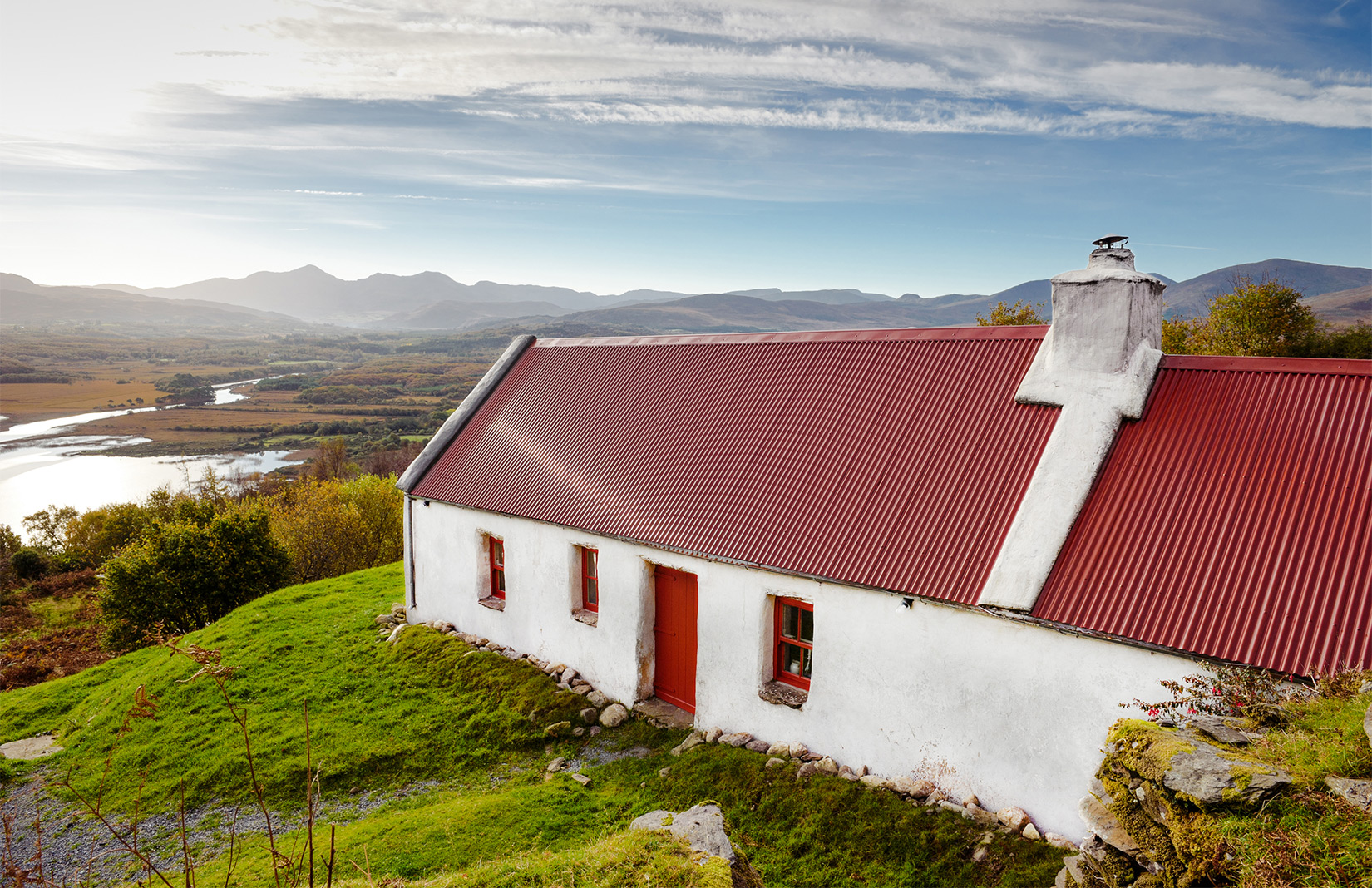 Holiday home of the week: a red-roofed cottage in Ireland's County Kerry