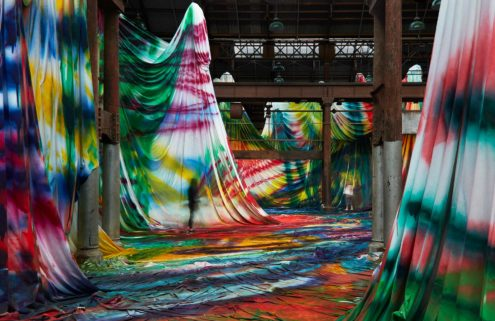 Katharina Grosse drenches Sydney's Carriageworks in colour