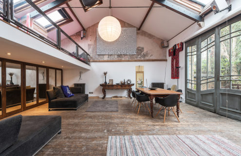 Vaulted former art studio in London asks £775 a week