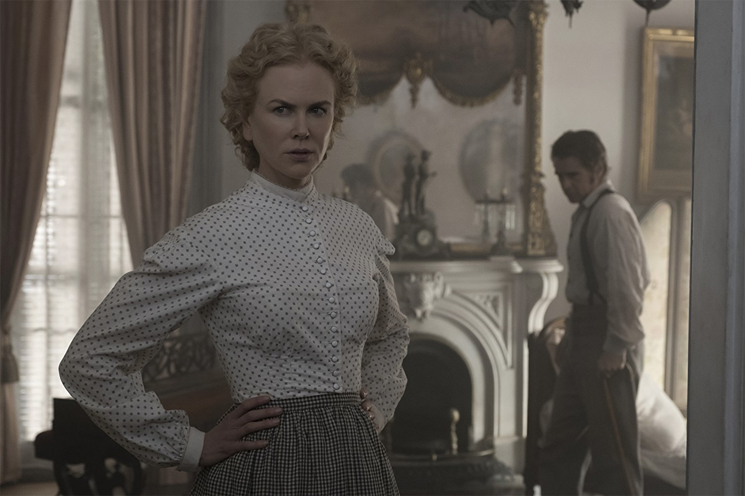 The Beguiled film still, Nicole Kidman and Colin Farrell