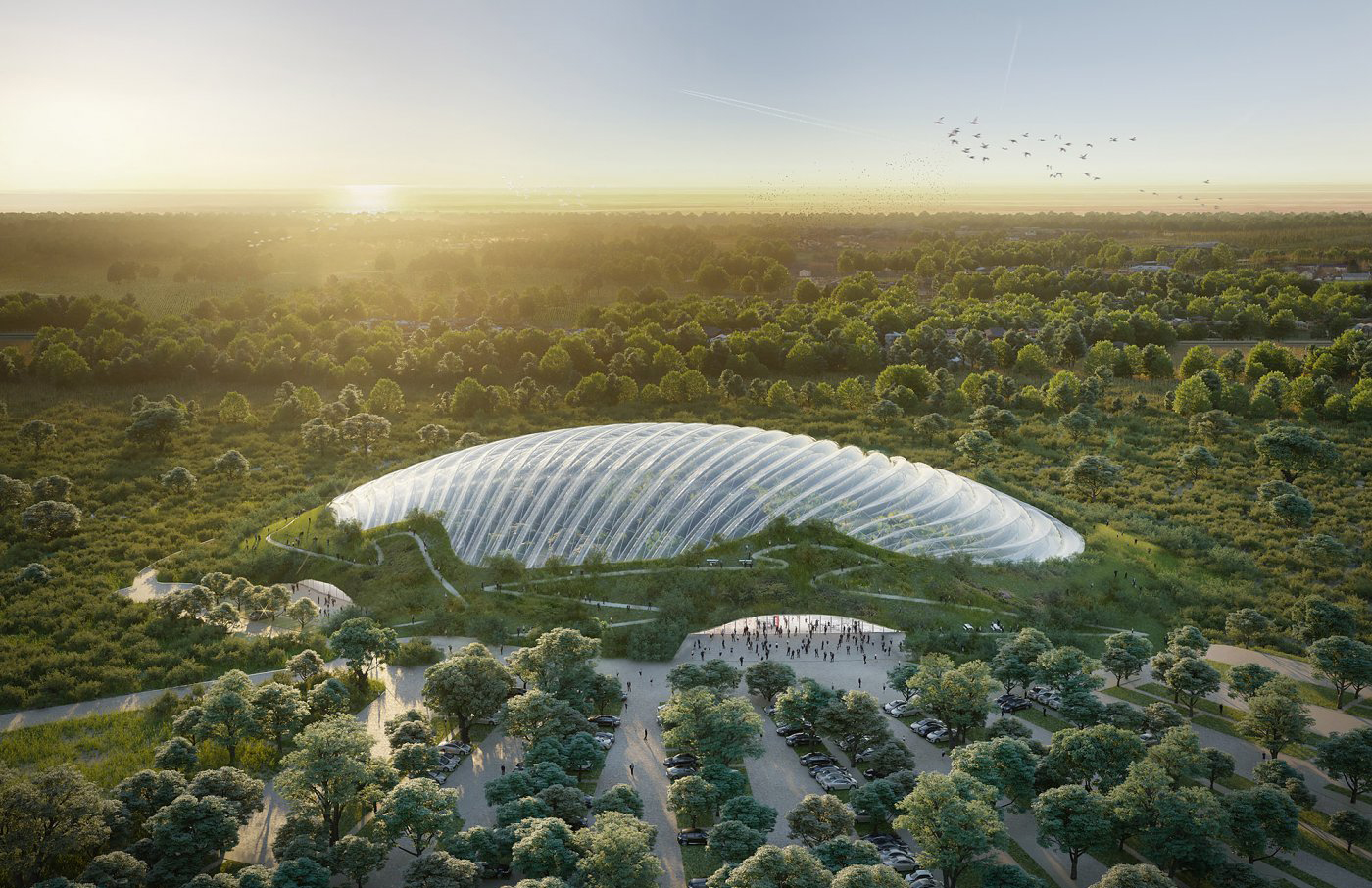 World's largest single-domed greenhouse