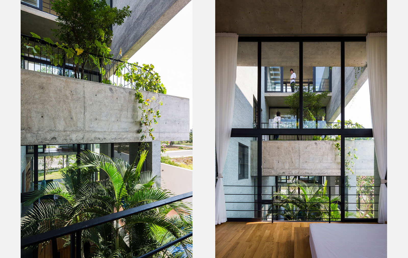 Binh House, by Vo Trong Nghia Architects in Ho Chi Minh City, Vietnam