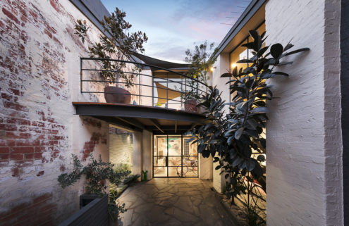 Converted Melbourne warehouse with a hidden courtyard is heading for auction
