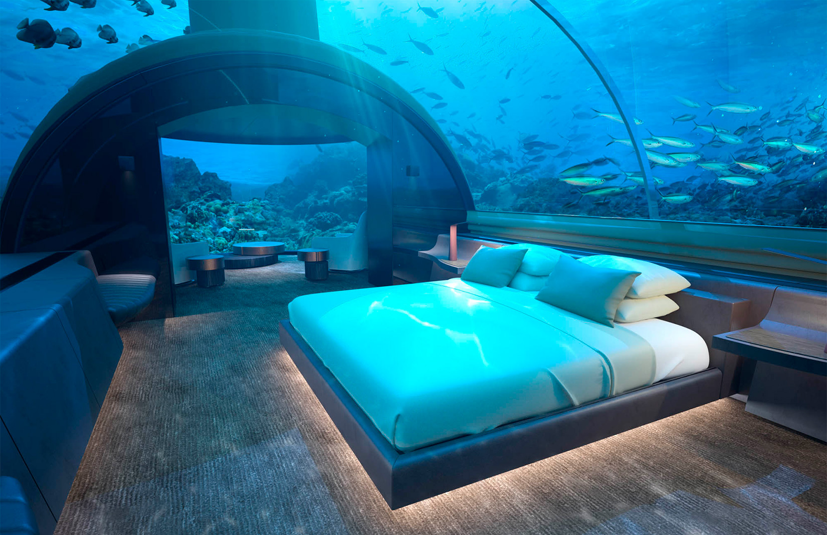 Stay in a tropical underwater villa for $50,000 per night