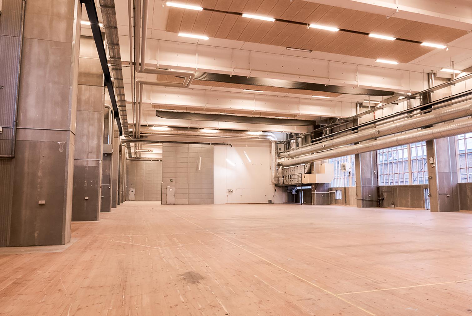 B&W's old welding hall from the inside. Copenhagen Contemporary, 2018. Photograph: Alex Laroux