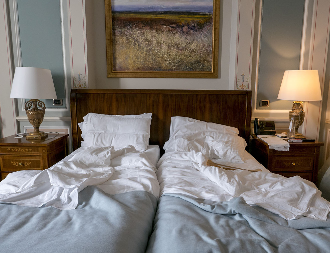 Giulia Dini's photo essay 'Left Behind' featuring empty hotel rooms