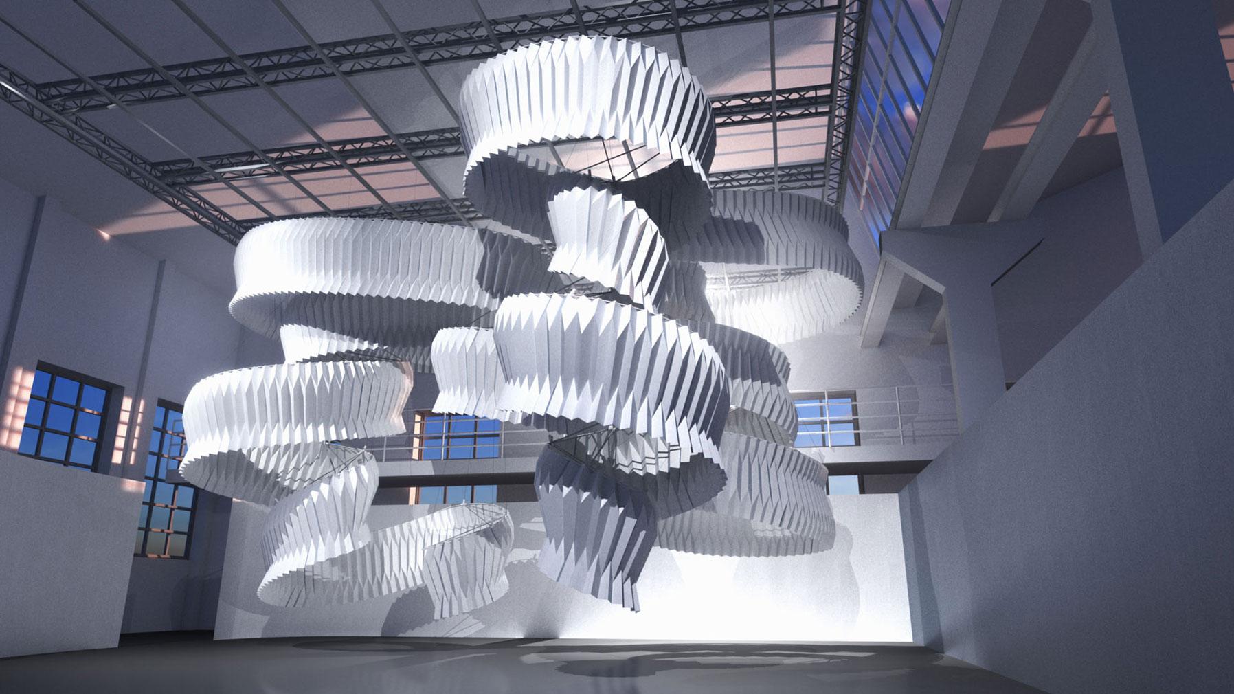 Kengo Kuma and Dassault Systemes' 'Breath/ng' installation at Milan Design Week