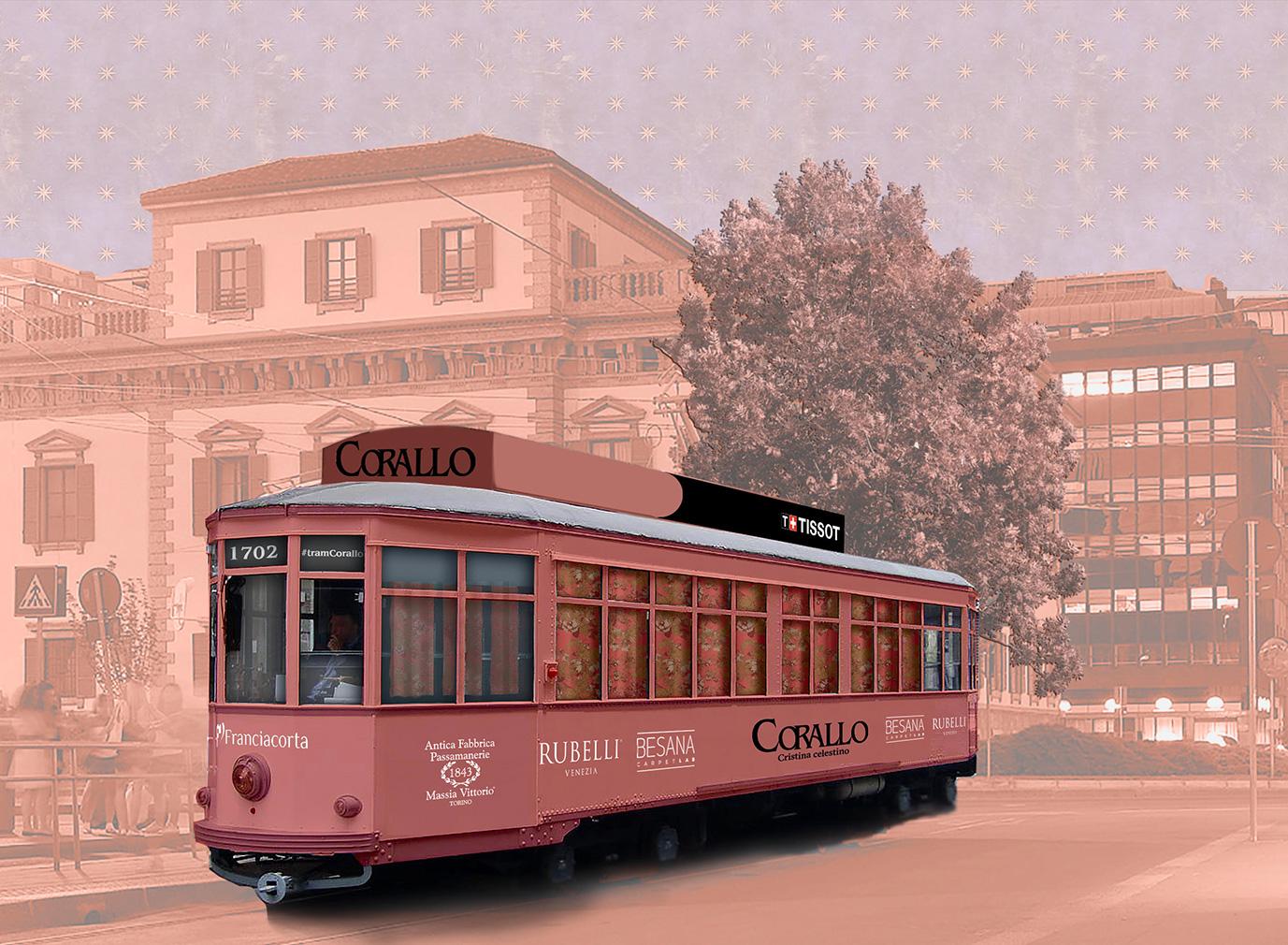 Rubelli's tram installation at Milan design week