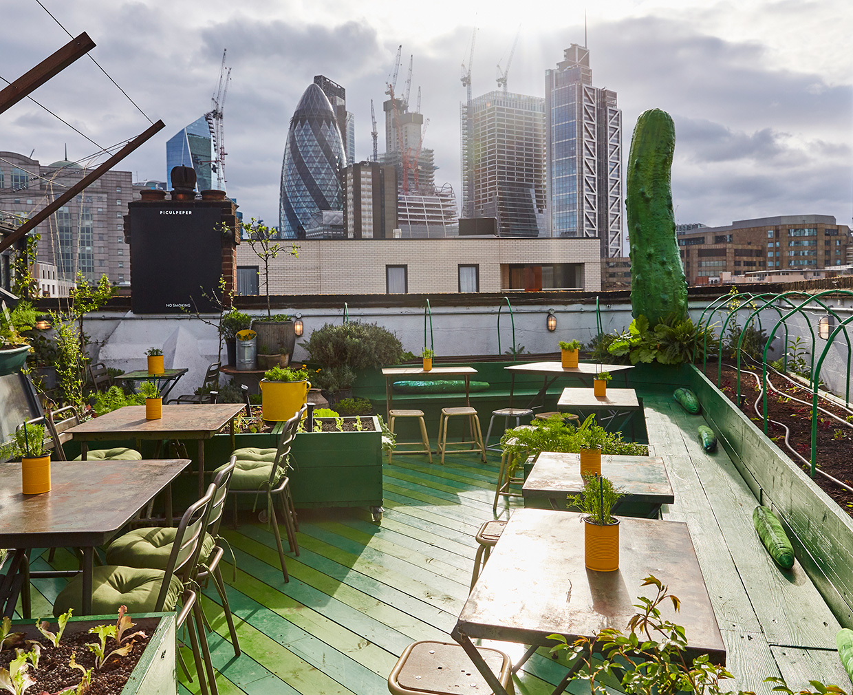 The pickle-centric Piculpeper rooftop bar