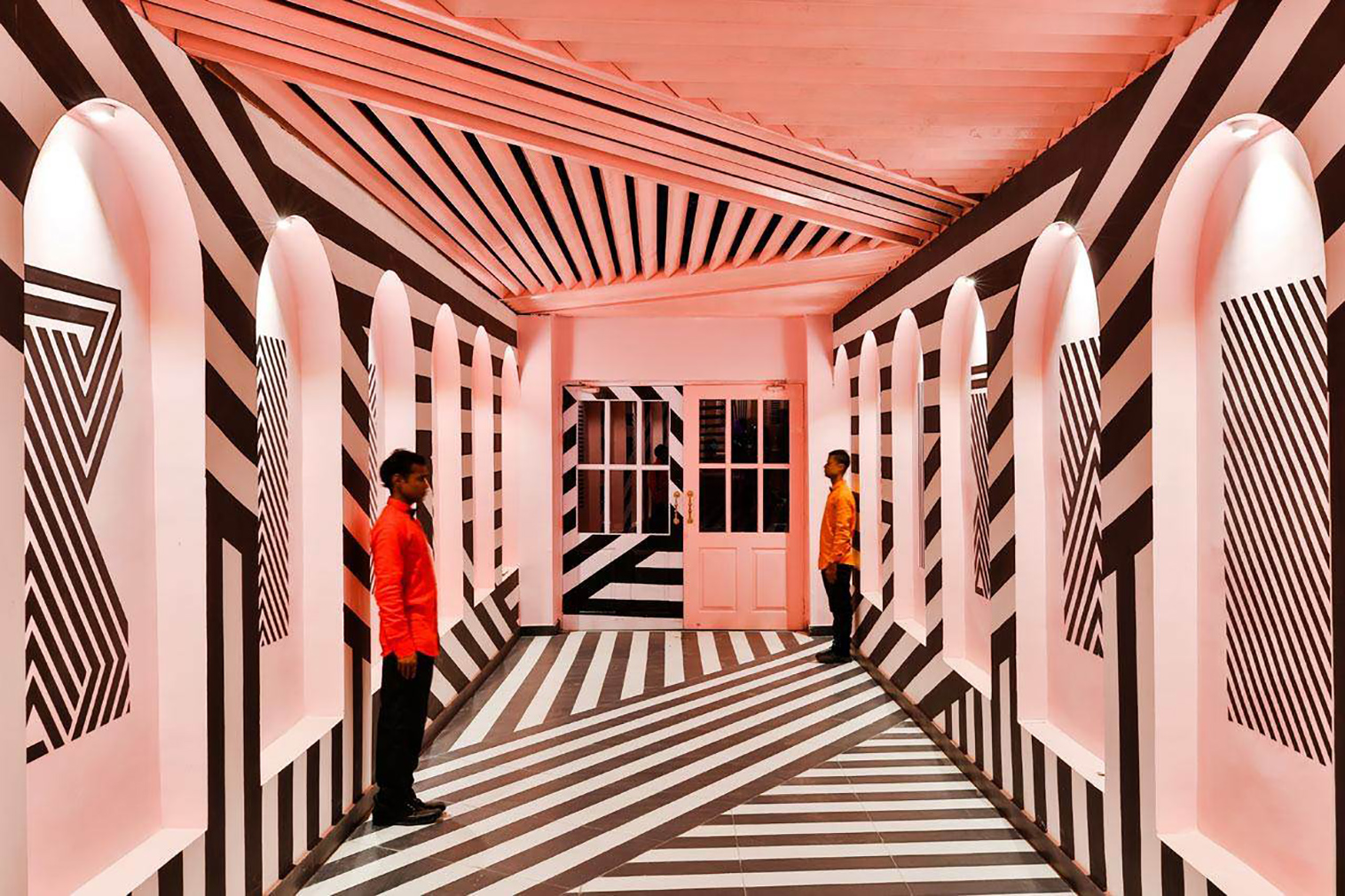 Pink Zebra cafe in India. Photography: Saurabh Suryan - Lokesh Dang for Renesa Architecture Design Interiors