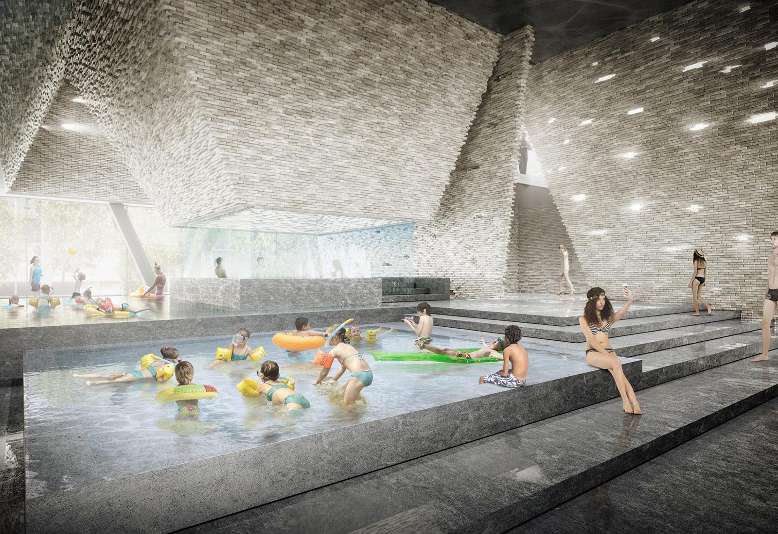 Kengo Kuma is building a pyramid-like aquatic centre on Copenhagen's Paper Island