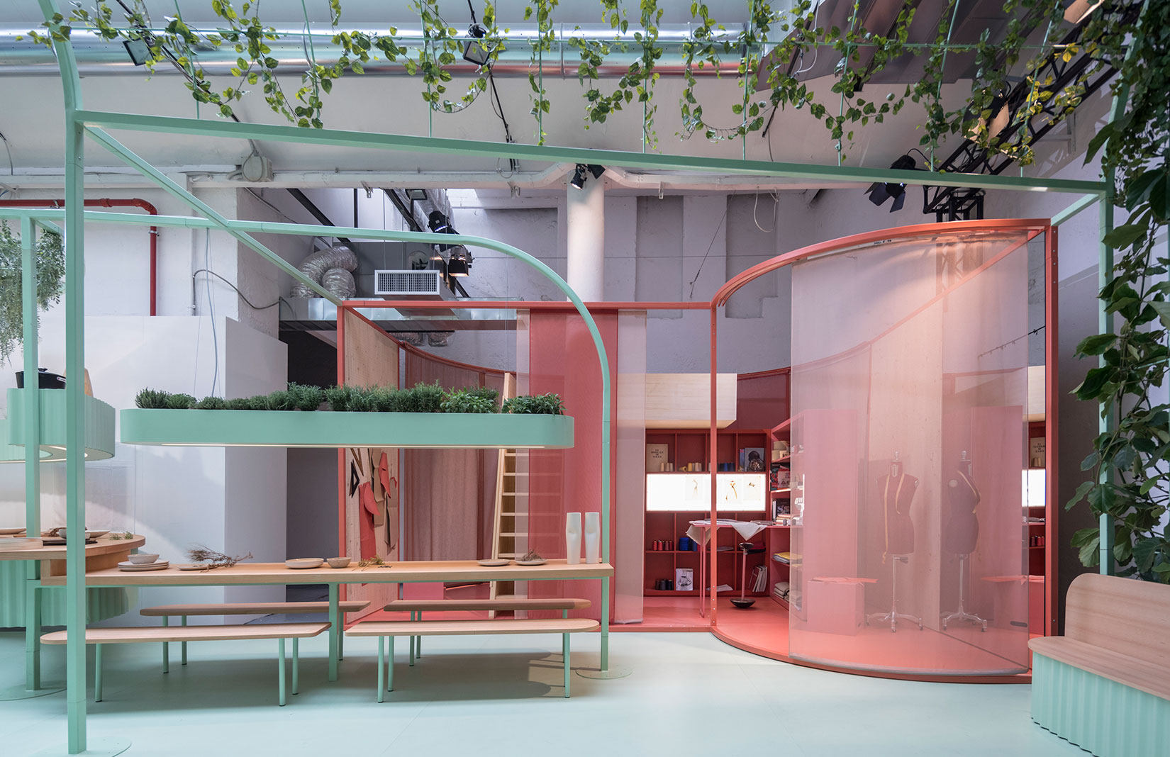 Studiomama's MINI Living - Built By All installation at Milan Design Week