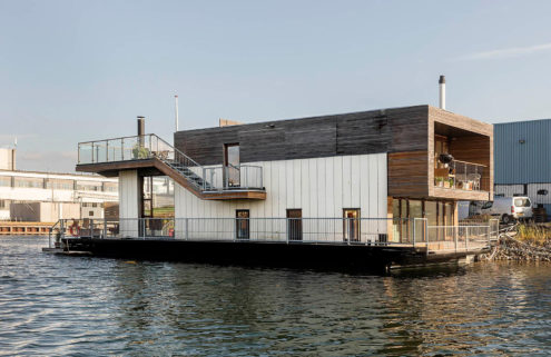 Cubic Danish houseboat hits the market for 5.9m DKK