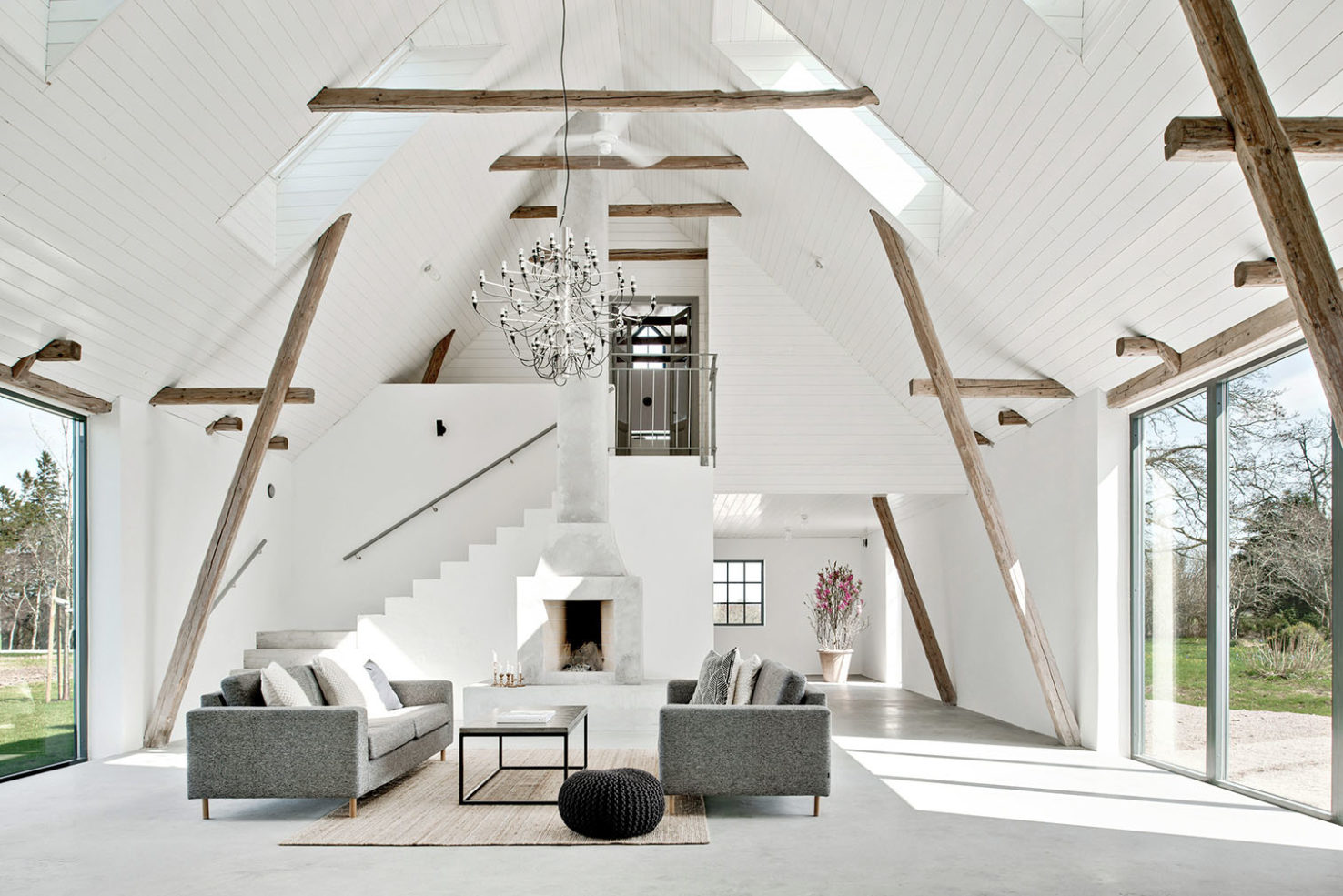 Swedish barn conversion for sale Fastighetsbyran