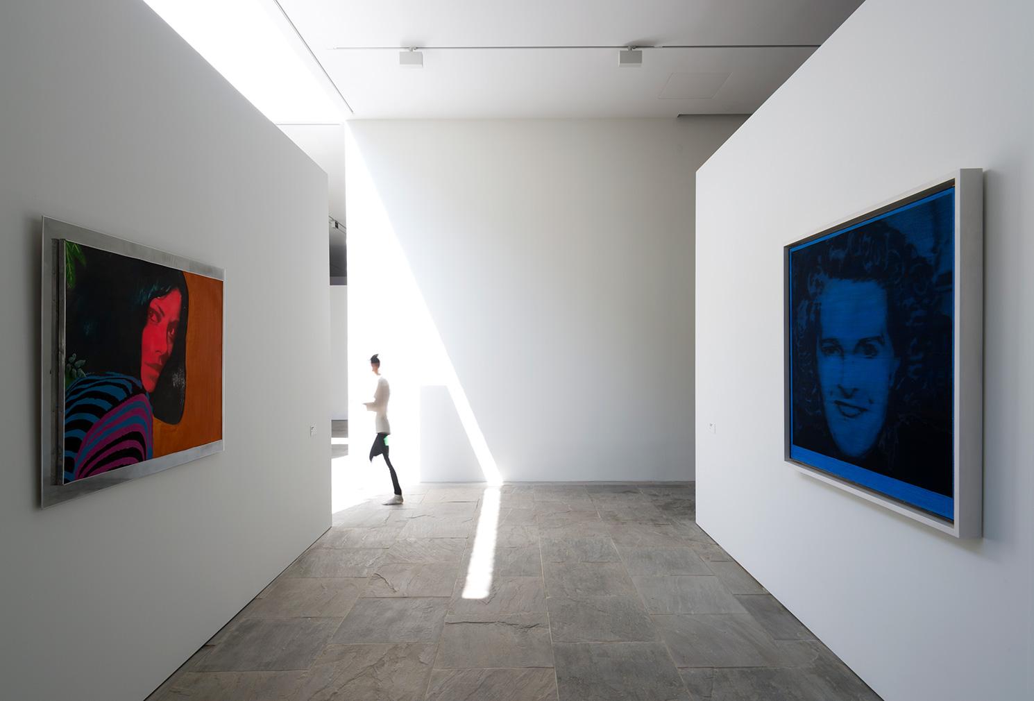 Left to right: Martial Raysse, 'Untitled', 1962. © Adagp, Paris 2018; Gerhard Richter, 'Evelyn (Blau)', 1964. © Gerhard Richter 2018. Photography: Marc Domage