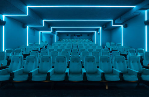 Every screen in this Berlin cinema looks like an art installation