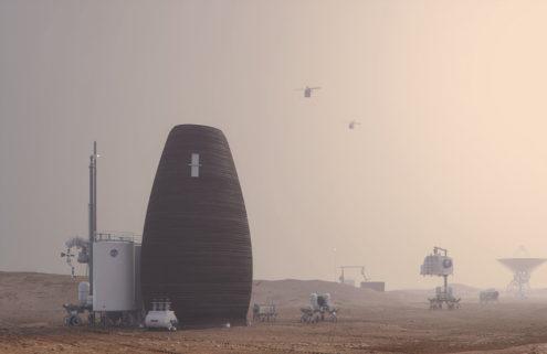NASA backs designs for 3D-printed homes on Mars