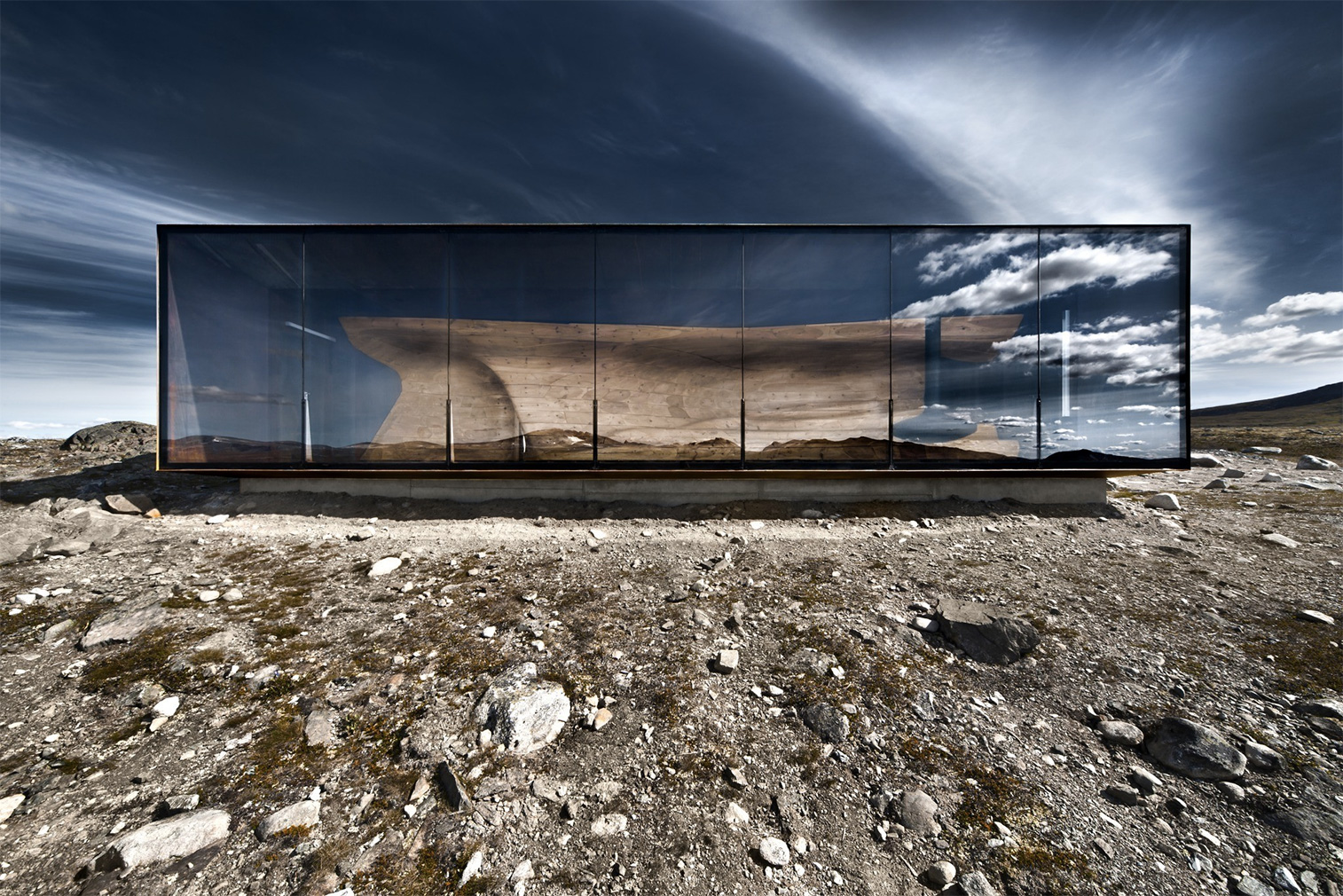 Norwegian Wild Reindeer Centre Pavilion by Snøhetta. Photography: Ketil Jacobsen