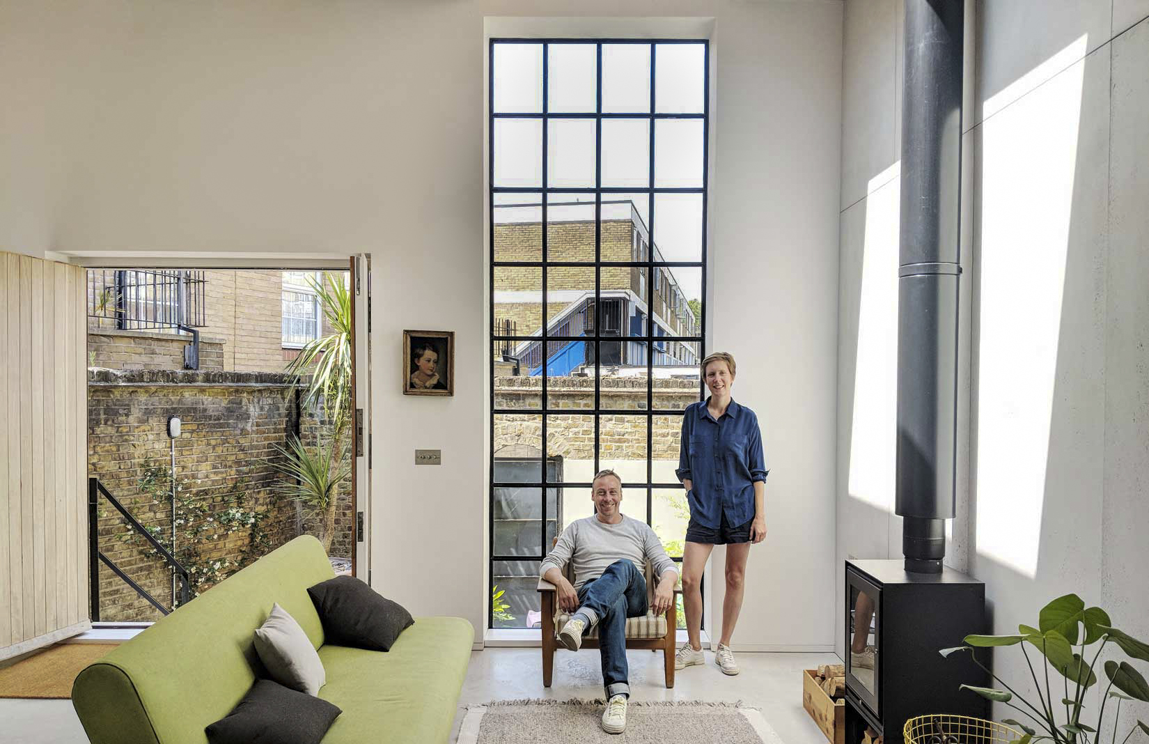 Rupert Scott and Leo Wood in their gin distillery they've turned into a home