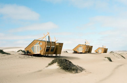 These Namibian cabins are designed to look like shipwrecks