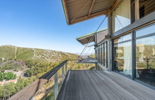 Property of the week: a timber home built into the hillside near Marseilles