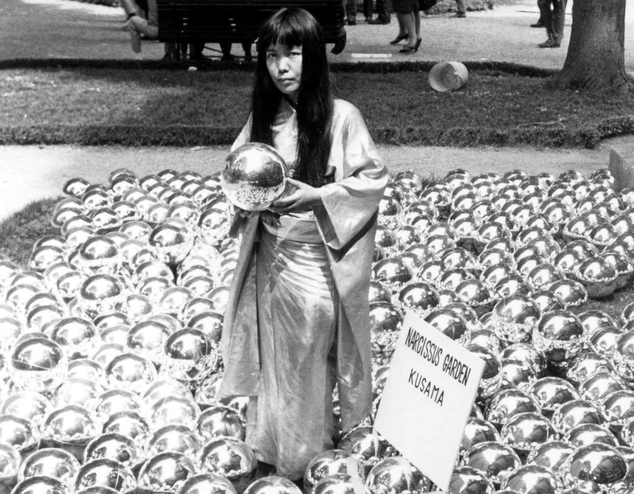 Yayoi Kusama's Narcissus Garden at the Venice Biennale, 1966