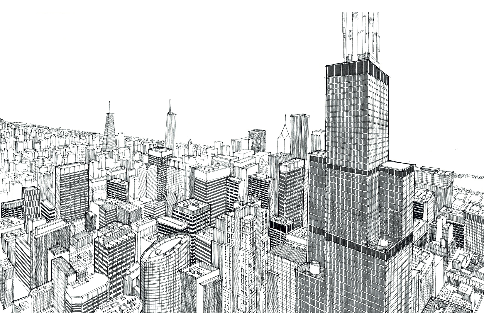 Chicago's cityscape by Sam Picardal (c)