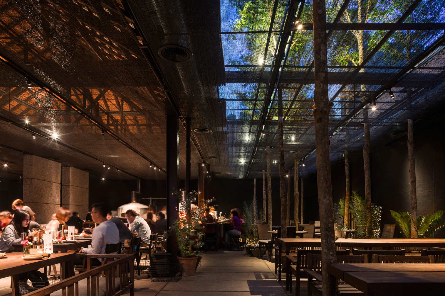Ho Chi Minh City restaurant shades diners with agricultural netting