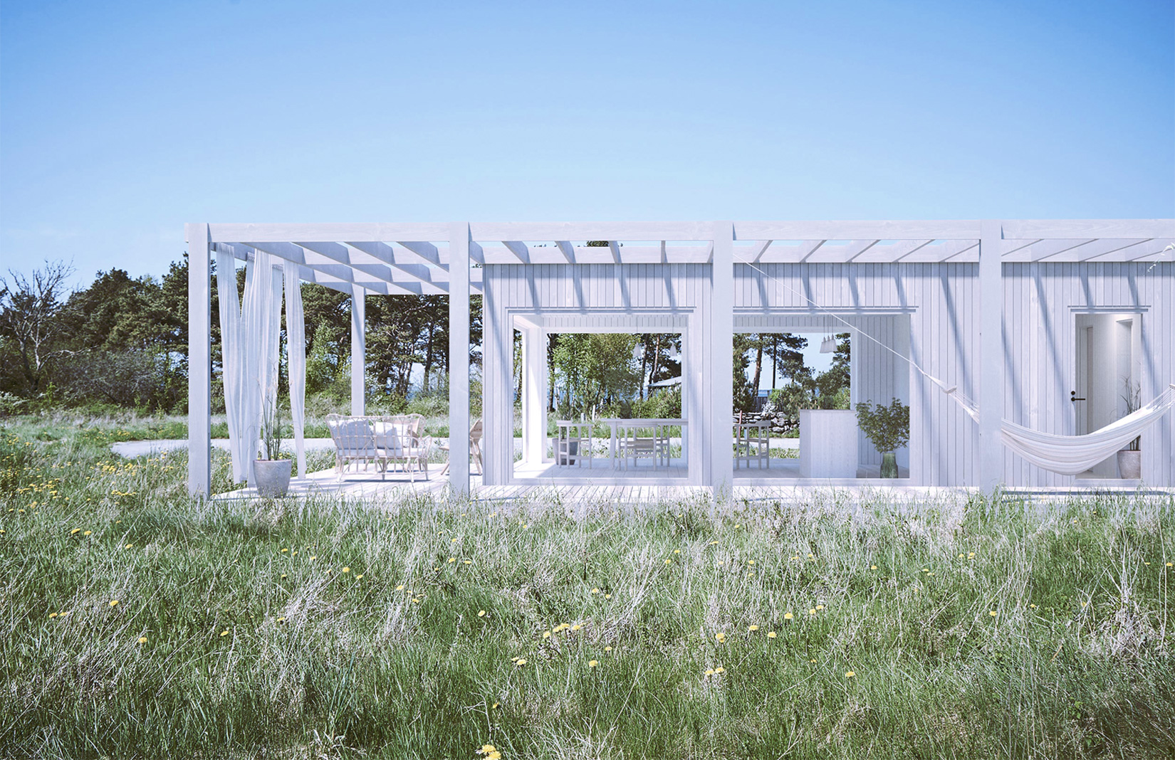 Unbuilt summer cabins on Sweden's Gotland