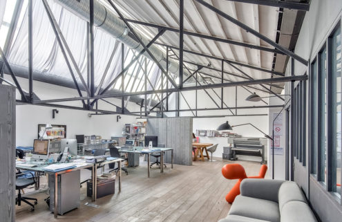 Live/work loft in a converted metalworks near Paris lists for €2.2m