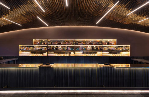 Studio Esrawe designs a glistening bar in Mexico City's National Stadium