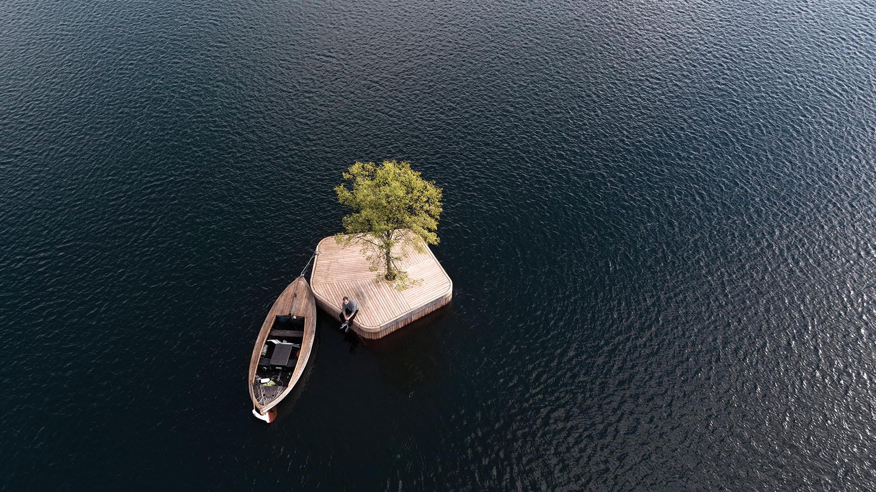 Copenhagen Islands floating platforms, designed by Marshall Blecher and Magnus Maarbjerg