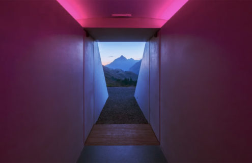 Artist James Turrell builds a Skyspace in the Austrian mountains