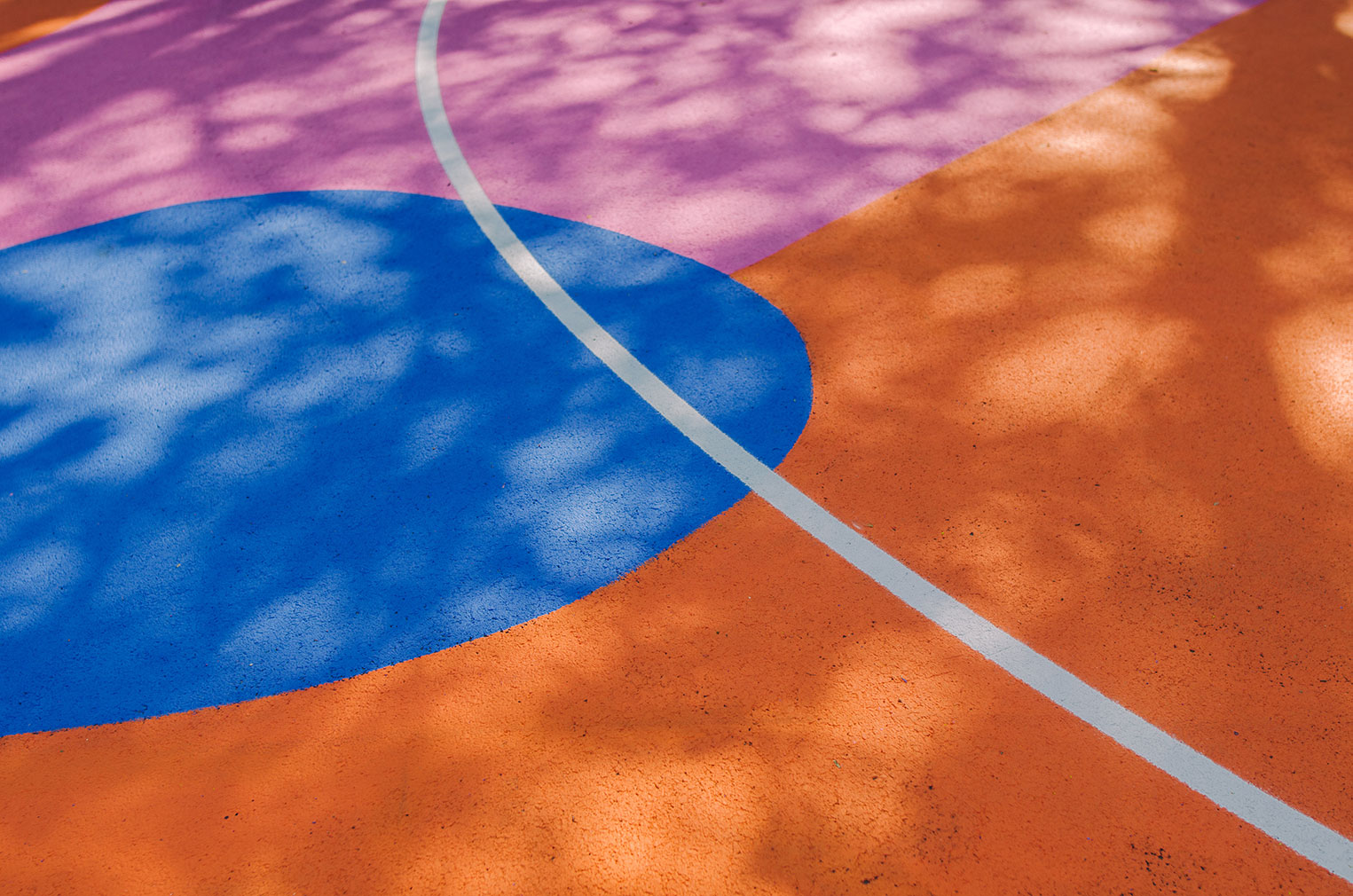 Lois O'Hara gives a Brighton basketball court a colour injection