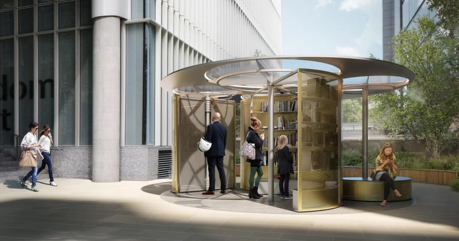 Snohetta book pavilion at London design festival 2018